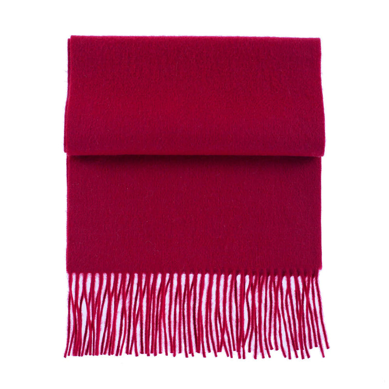 Cashmere Tasselled Scarf Wine -  - CLOTHING  from The Wool Company