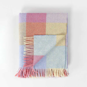 Check Lambswool Throw Pastel -  - LIVING  from The Wool Company
