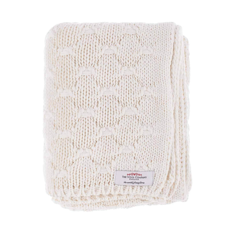 Chunky Knit Cotton Baby Blanket BABY The Wool Company