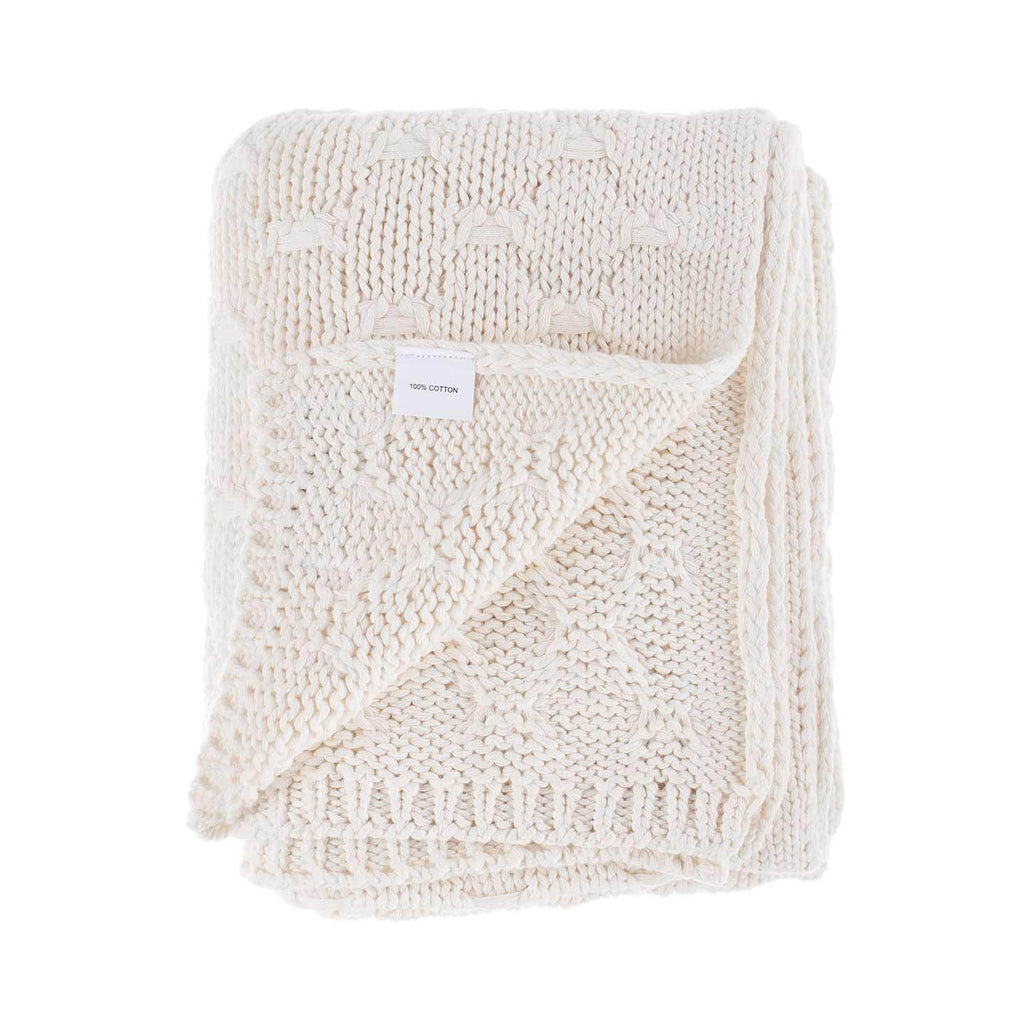 Chunky Knit Cotton Baby Blanket -  - BABY  from The Wool Company