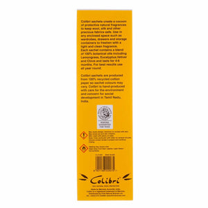 Buy Colibri Natural Anti-Moth 5 Sachet Pack in Lemongrass From The Wool Company Online