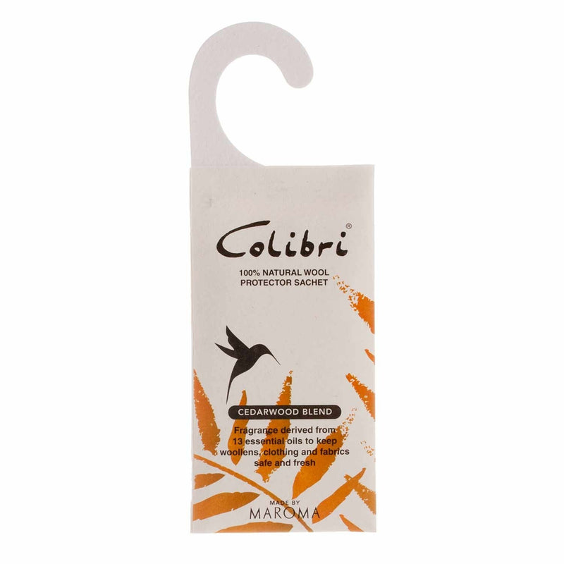 Colibri Natural Anti-Moth Hanging Wardrobe Sachet in Cedarwood -  - Wool Care  from The Wool Company