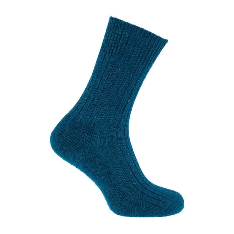 Cotswold Mohair Trekking Sock 4 - 7 Teal CLOTHING The Wool Company