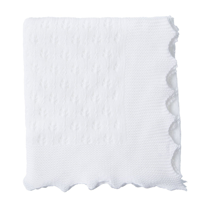 Cotton Christening Shawl White -  - BABY  from The Wool Company