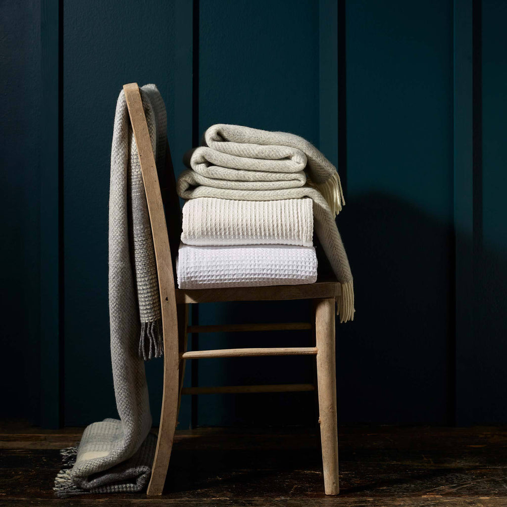 Cotton Waffle Blanket OFFERS and SALE The Wool Company