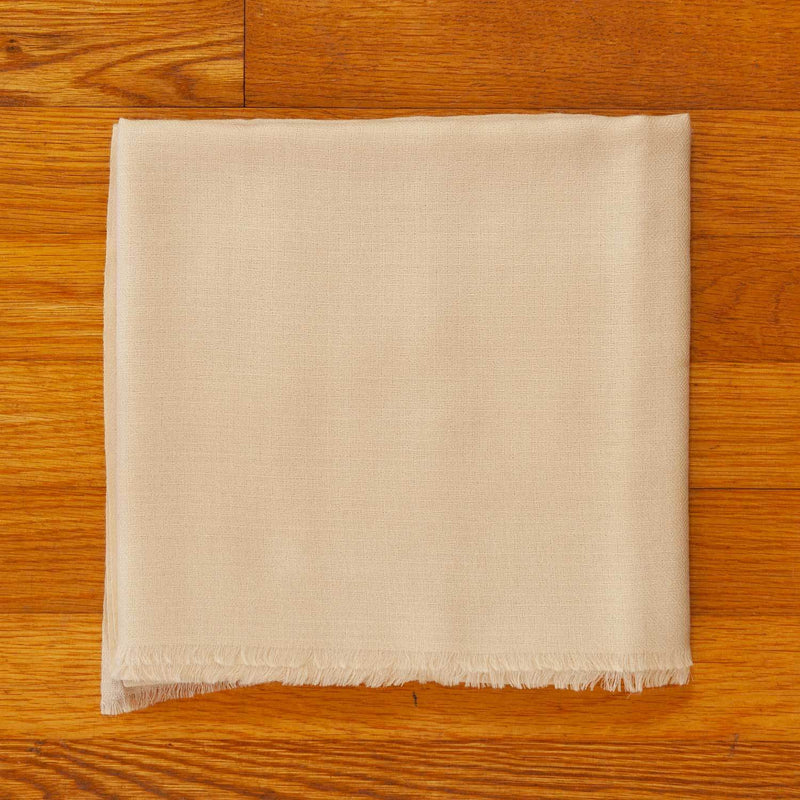 Diamond Weave Fine Wool & Silk Shawl in Cream -  - OFFERS and SALE  from The Wool Company