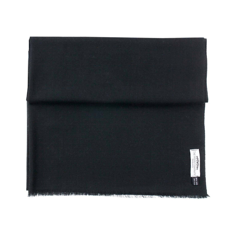 Diamond Weave Fine Wool & Silk Shawls Black CLOTHING The Wool Company
