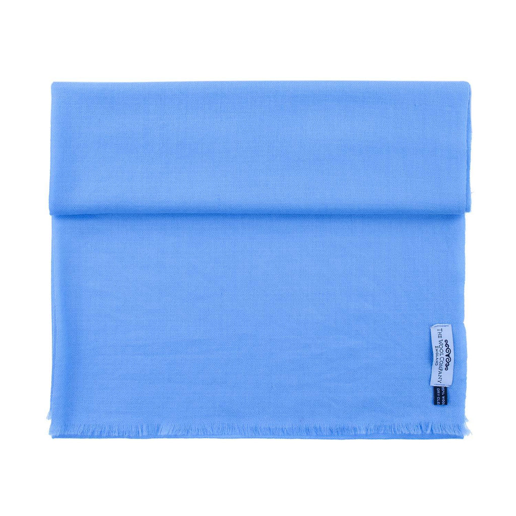 Diamond Weave Fine Wool & Silk Shawls Bluebird -  - CLOTHING  from The Wool Company