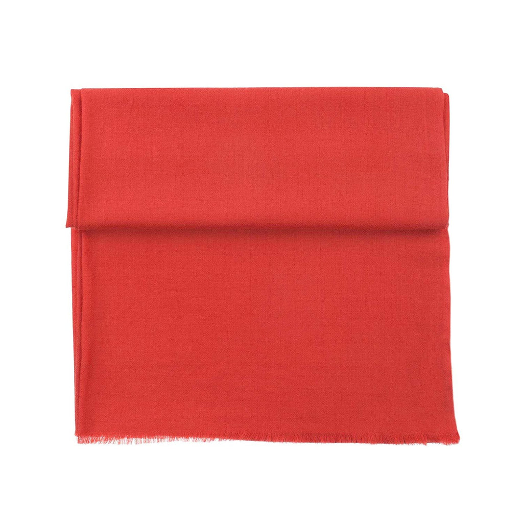 Diamond Weave Fine Wool & Silk Shawls Burnt Orange -  - CLOTHING  from The Wool Company