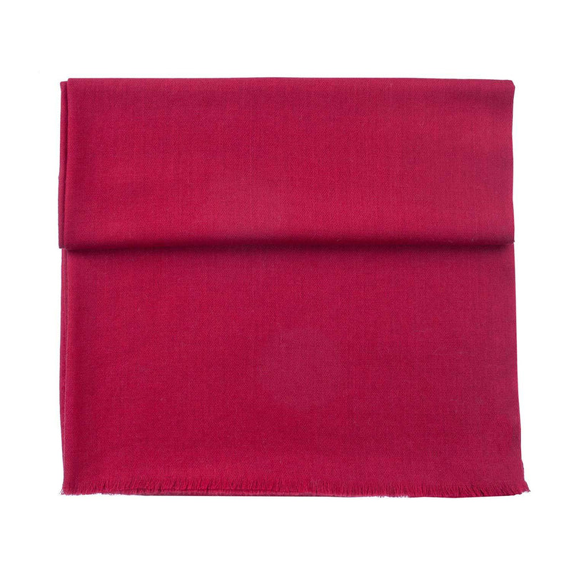 Diamond Weave Fine Wool & Silk Shawls Carmine Red -  - CLOTHING  from The Wool Company