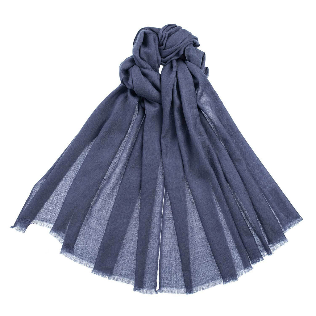 Diamond Weave Fine Wool & Silk Shawls Charcoal -  - CLOTHING  from The Wool Company