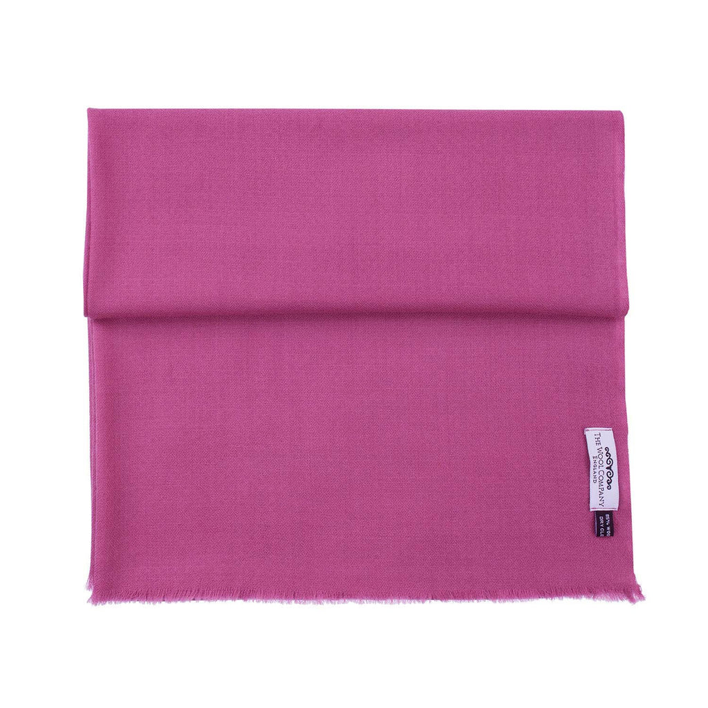 Diamond Weave Fine Wool & Silk Shawls Dark Pink -  - CLOTHING  from The Wool Company