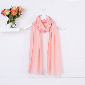 Diamond Weave Fine Wool & Silk Shawls Light Coral -  - CLOTHING  from The Wool Company