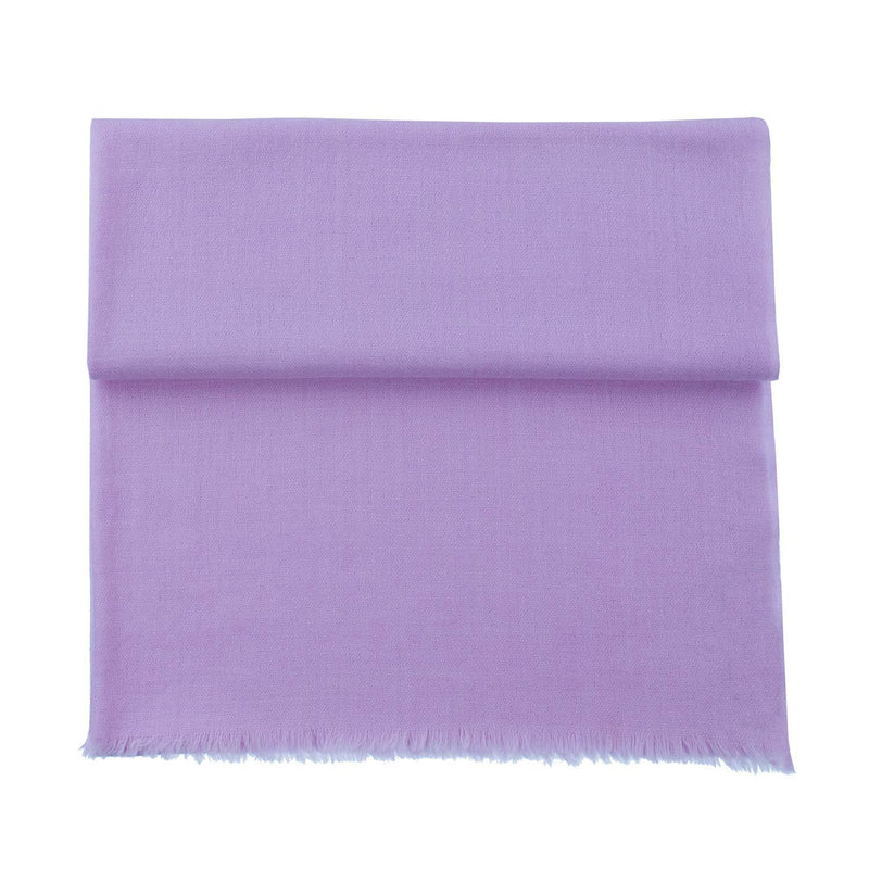 Diamond Weave Fine Wool & Silk Shawls Lilac -  - CLOTHING  from The Wool Company