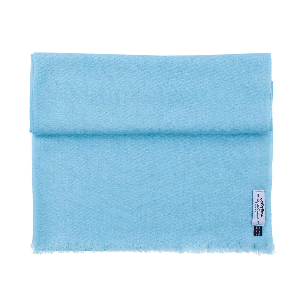 Diamond Weave Fine Wool & Silk Shawls Pale Turquoise -  - CLOTHING  from The Wool Company