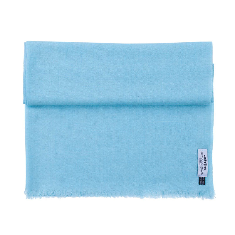 Buy Diamond Weave Fine Wool & Silk Shawls Pale Turquoise From The Wool Company Online