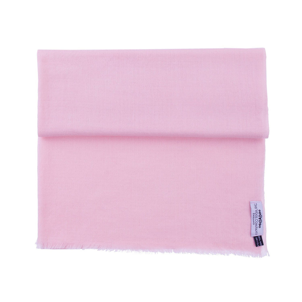 Diamond Weave Fine Wool & Silk Shawls Pink Rose -  - CLOTHING  from The Wool Company