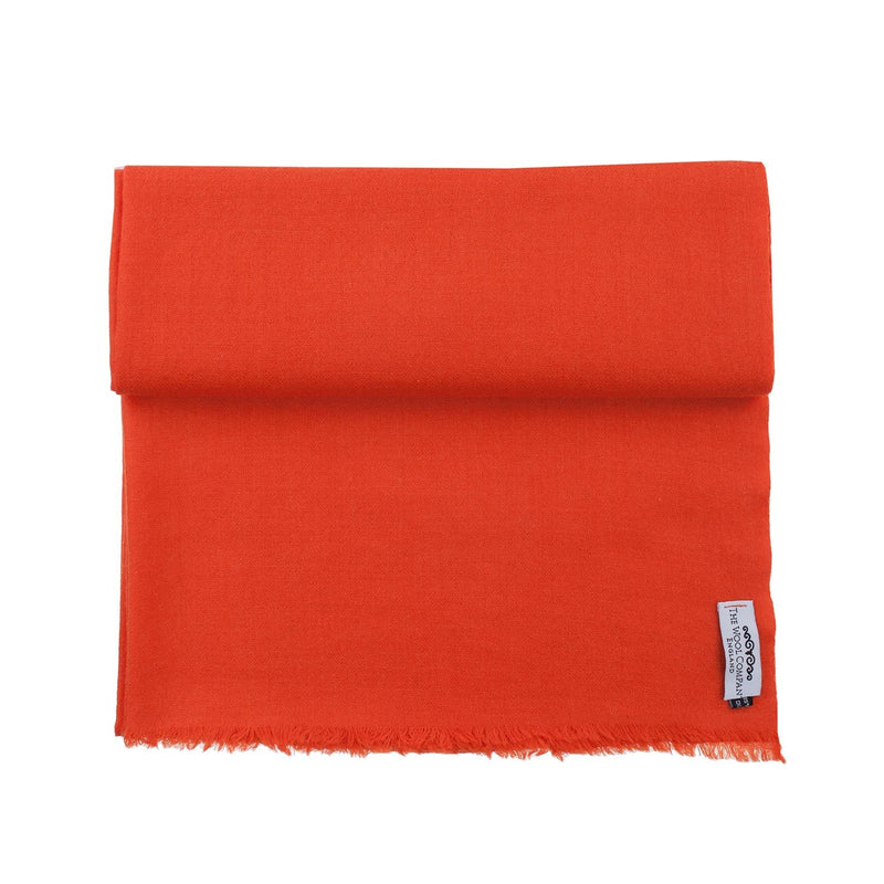 Diamond Weave Fine Wool & Silk Shawls Tangerine CLOTHING The Wool Company