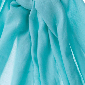 Diamond Weave Fine Wool & Silk Shawls Turquoise CLOTHING The Wool Company
