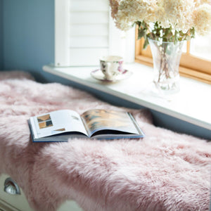 Buy Double Dusky Pink Sheepskin From The Wool Company Online
