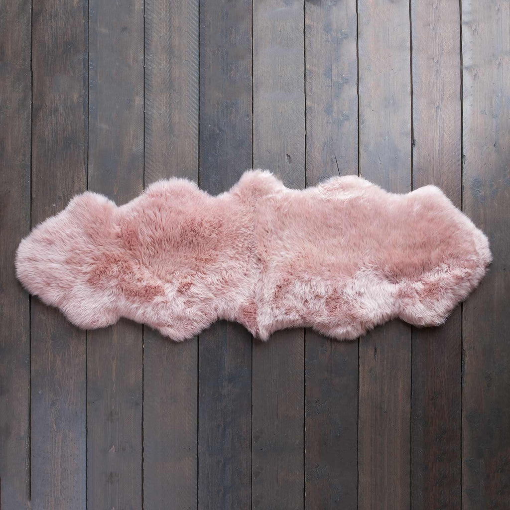 Double Dusky Pink Sheepskin -  - SHEEPSKIN  from The Wool Company