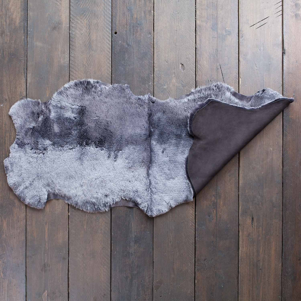 Buy Double Shearling Throw in Graphite From The Wool Company Online