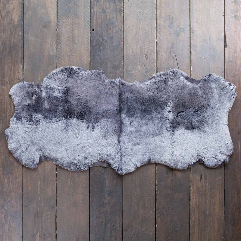 Double Shearling Throw in Graphite -  - SHEEPSKIN  from The Wool Company