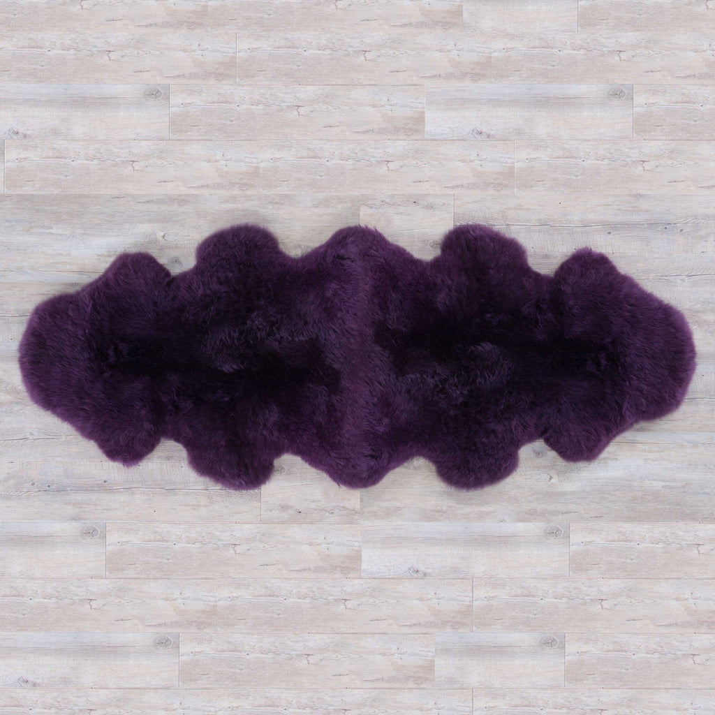 Buy Double Sheepskin Aubergine From The Wool Company Online
