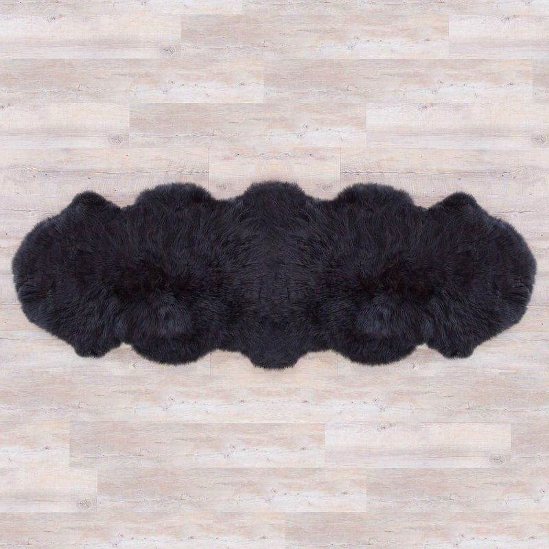 Double Sheepskin Jet Black -  - SHEEPSKIN  from The Wool Company
