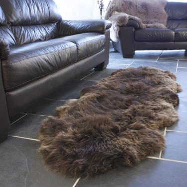 Double Sheepskin Natural Chocolate -  - SHEEPSKIN  from The Wool Company