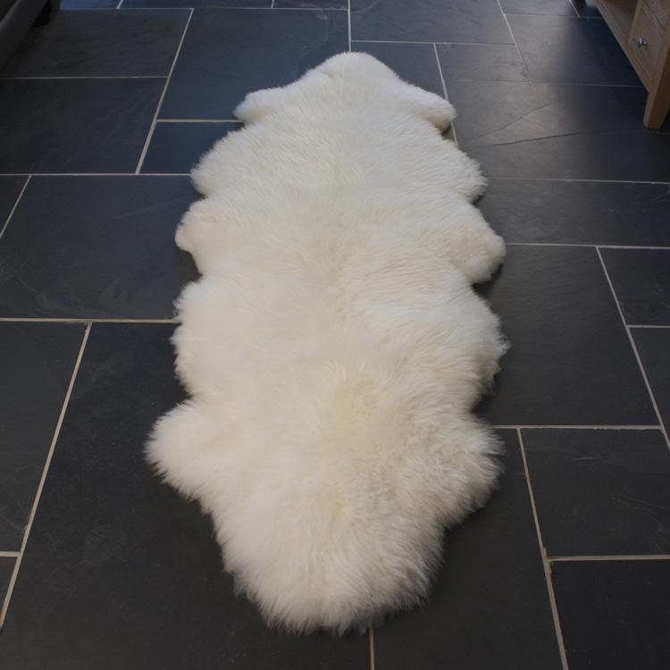Double Sheepskin Natural White -  - SHEEPSKIN  from The Wool Company