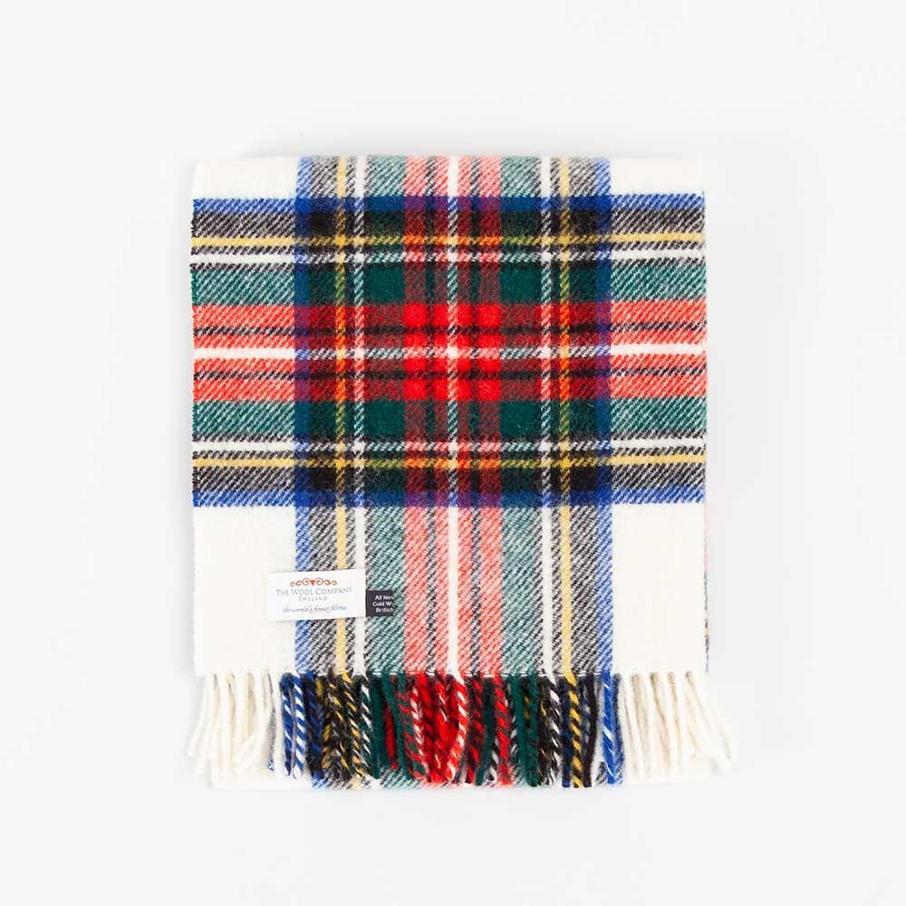 Buy Dress Stewart Tartan Check Pure New Wool Knee Rug From The Wool Company Online