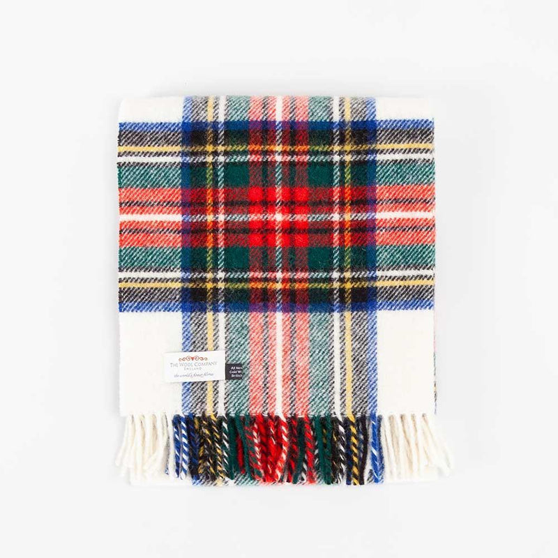 Dress Stewart Tartan Check Pure New Wool Knee Rug -  - LIVING  from The Wool Company