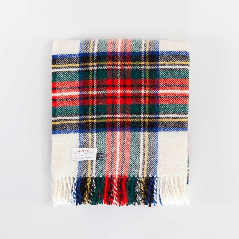 Dress Stewart Tartan Check Pure New Wool Throw -  - LIVING  from The Wool Company