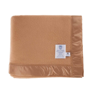 Duchess Merino Blanket - Camel / 230 x 280 cm Super King - LUXURY BEDDING  from The Wool Company