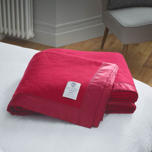 Duchess Merino Blanket - Cherry / 230 x 185 cm Single - LUXURY BEDDING  from The Wool Company