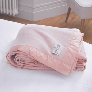 Duchess Merino Blanket - Powder Pink / 230 x 185 cm Single - LUXURY BEDDING  from The Wool Company