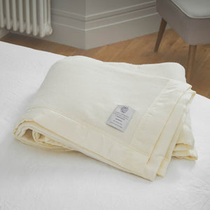 Duchess Merino Blanket - White / 230 x 230 cm Double - LUXURY BEDDING  from The Wool Company