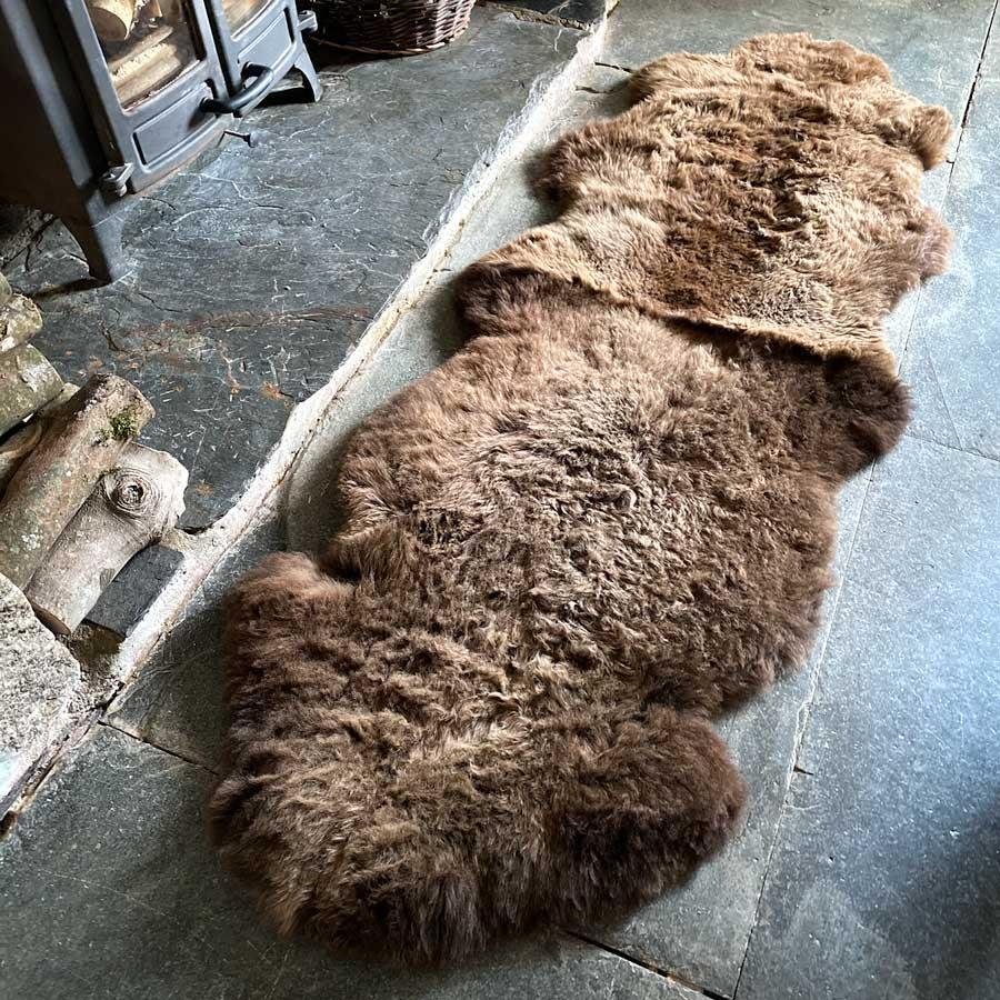 Buy Eco Tanned British Double Natural Brown From The Wool Company Online