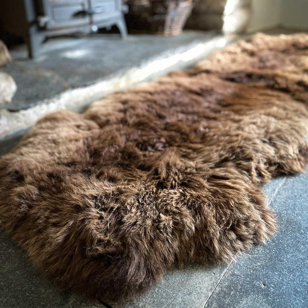 Eco Tanned British Double Natural Brown -  - SHEEPSKIN  from The Wool Company
