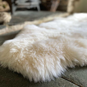 Eco Tanned British Double Natural White -  - SHEEPSKIN  from The Wool Company