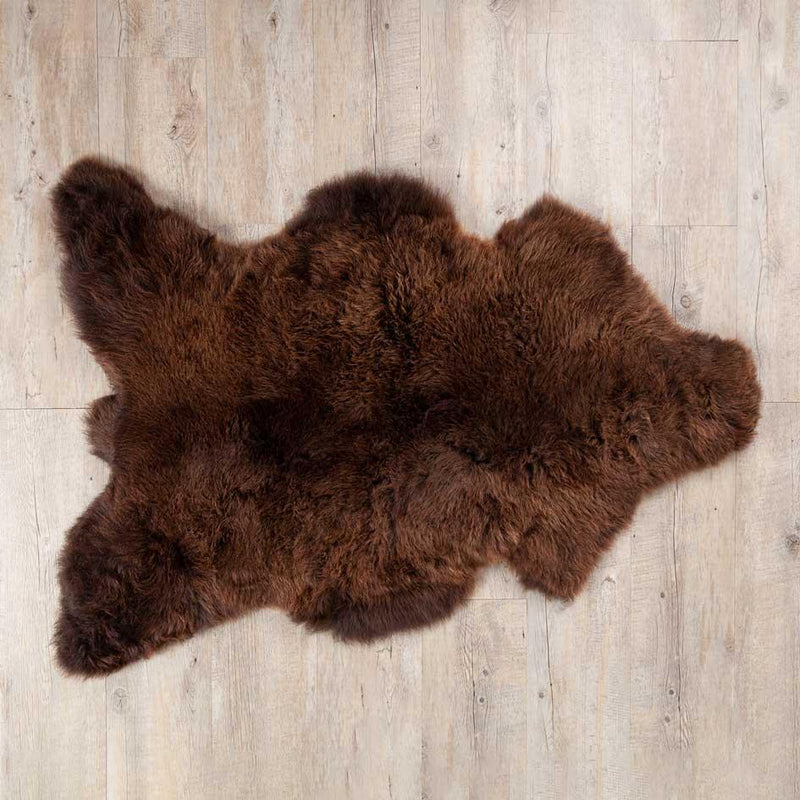 Eco Tanned British Natural Chocolate Sheepskin -  - SHEEPSKIN  from The Wool Company