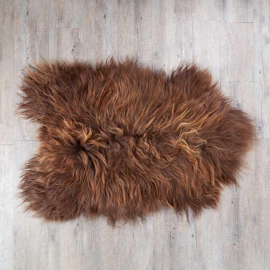 Eco Tanned Golden Natural Brown Icelandic Sheepskin -  - SHEEPSKIN  from The Wool Company