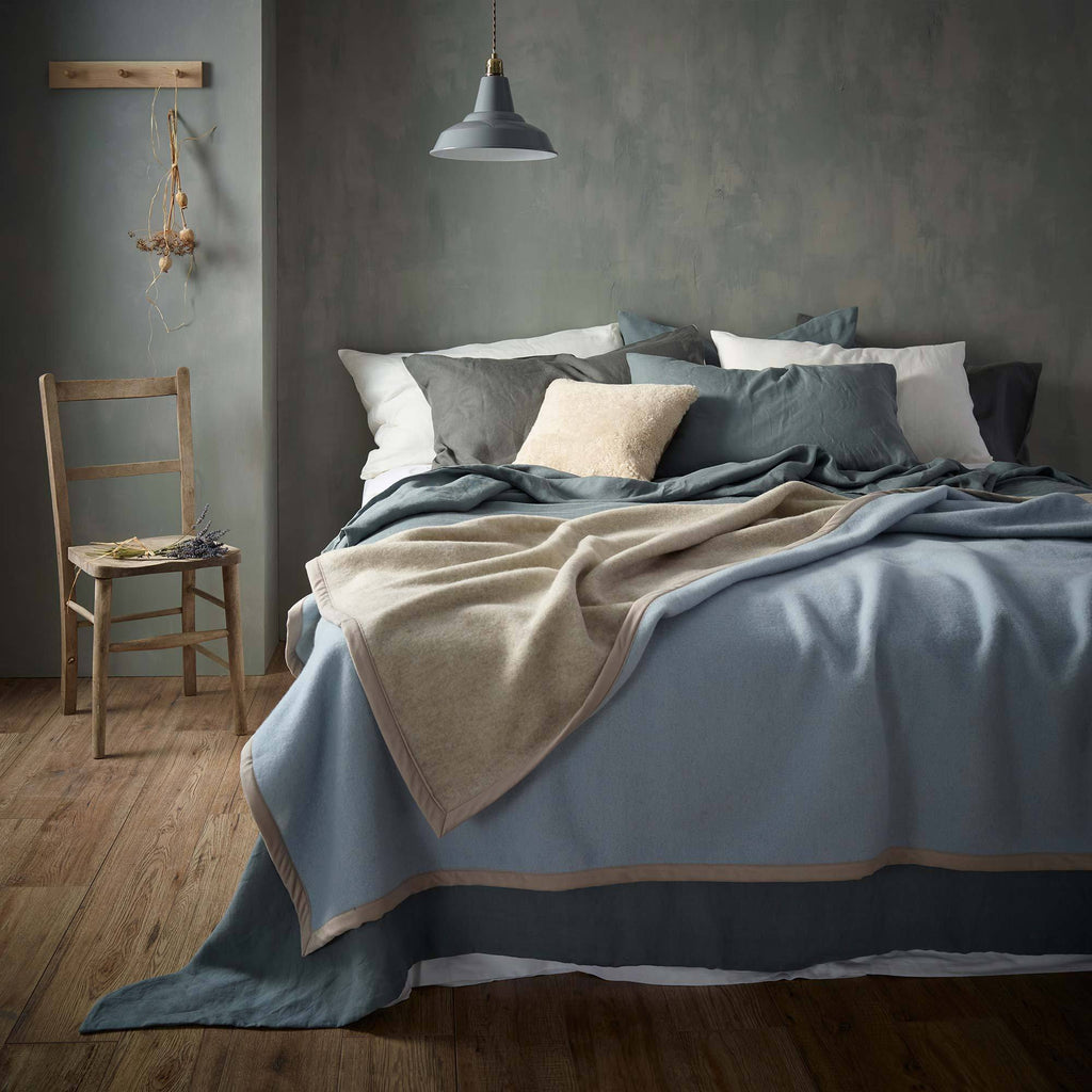 Emilie Double-Faced Wool Blanket LUXURY BEDDING The Wool Company