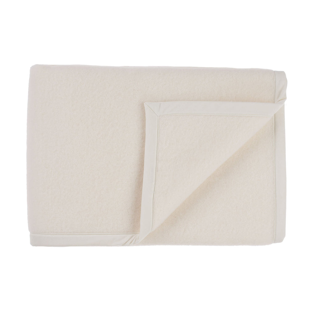 Emilie Double-Faced Wool Blanket Off-White 180 x 210 cm Single LUXURY BEDDING The Wool Company