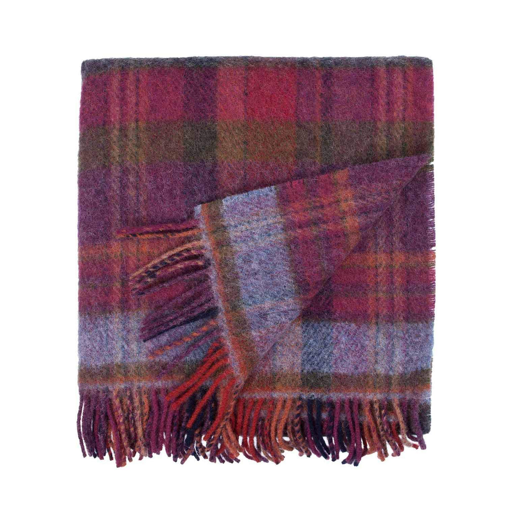 English Country Woolen Knee Rugs - Bramble - LUXURY BEDDING  from The Wool Company