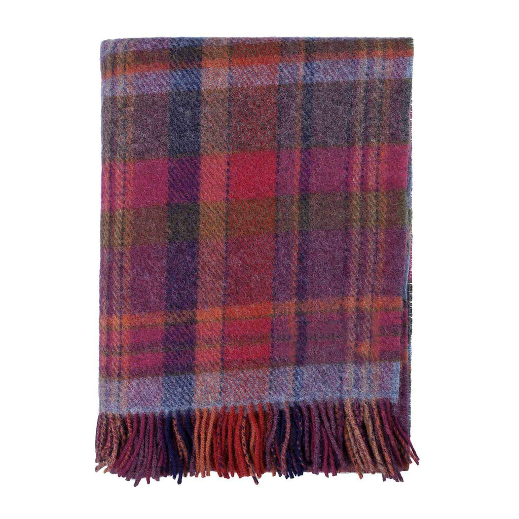 English Country Woolen Throw Bramble LIVING The Wool Company