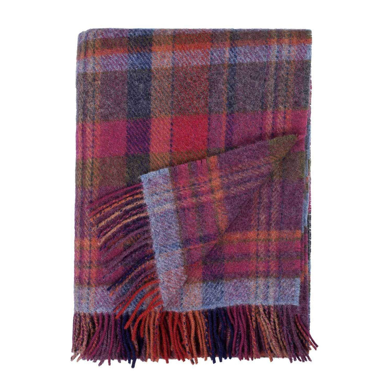 Buy English Country Woolen Throw Bramble From The Wool Company Online