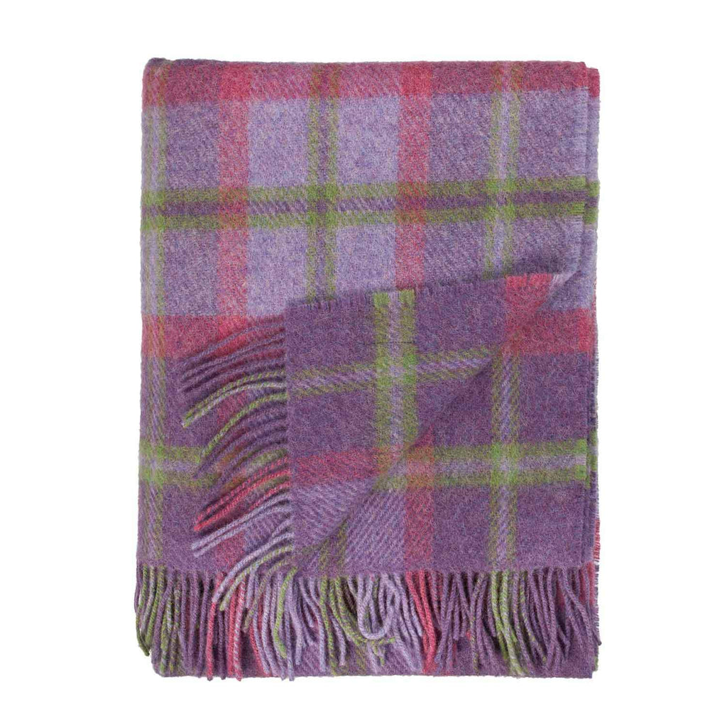 English Country Woollen Throw Heather - Default Title - LIVING  from The Wool Company
