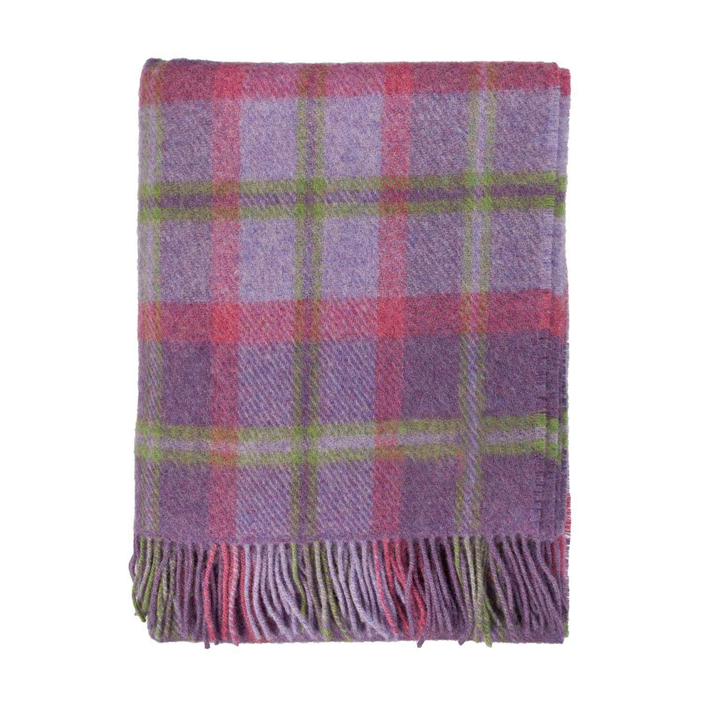 English Country Woolen Throw Heather LIVING The Wool Company